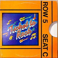 TICKET TO ROCK 1982 CBS PROMO SAMPLER-NM LP WHITE LBL PROM OZZY/REO/BUCK DHARMA+