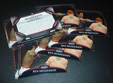 Benson Henderson UFC 2011 Topps Finest Debut Card #52 164 150 144 129 WEC 53 48