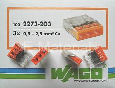 Wagoklemmen 2273-203 Verbindungsklemmen von 0,5 - 2,5mm² 100'er Packung - neu