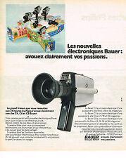 PUBLICITE ADVERTISING   1973   BAUER   caméra