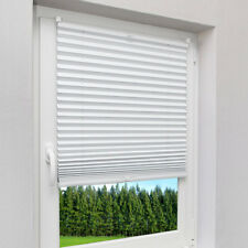 Plissee Faltrollo Fenster Jalousie Rollo Klemmfix Easyfix ohne Bohren Wei�Ÿ Beige