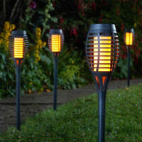 3 6PK Solar LED Garden Lights Stake Post Patio Path Outdoor Fire Flame Lighting