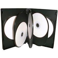 50 X Cd Dvd 27mm Negro Dvd 8 Way Funda Para 8 Disco-Pack De 50
