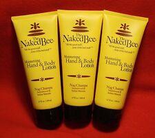 The Naked Bee 3-6.7 oz tubes  Moisturizing Hand and Body Lotion Nag Champa
