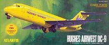 Atlantis Aurora DC-9 Jet Airliner Hughes Airwest + TWA  Plastic Model Kit 1/72