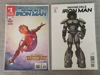 Invincible Iron Man #1 2nd printing & 2 Deodato Variant - Riri Williams - VF/NM