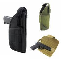 Tactical Vertical Belt Mount Holster Universal MOLLE Pistol Holster