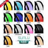 SUNLU ABS 3D Printer Filaments 1.75mm 2.2LBS/1KG with Spool Black ABS Filament