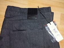 Versace Collection para hombre de cuero-Recortar Negro Jeans, Talla: 32