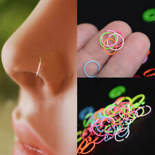 40Pcs Nose Open Hoop Ring Lip Earring Body Piercing Studs Jewelry Surgical Steel
