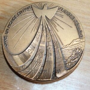 médaille bronze dans un monde en paix un avenir meilleur 1939-1945