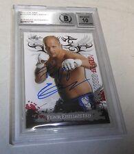 Fedor Emelianenko Signed 2010 Leaf MMA Card #1 BAS COA UFC Gem Mint 10 Autograph