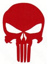 REFLECTIVE Punisher red fire helmet die cut decal window sticker
