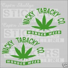 WACKY TOBACKY DECALS pair 7 YEAR VINYL CAPT'N SKULLYS STICKERS ONLINE MPN 242