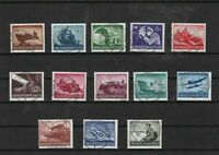 germany 1944 used armed forces stamps set ref 7585