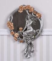 Frauenfigur Jugendstil Spiegel Art Nouveau Wandspiegel Vintage Antik