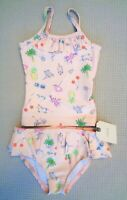 BNWT NEXT Baby Girls Pink Character Swimsuit Tankini Swimming Costume 3-6 months