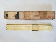 """Nestler Celluloid /& Wood 12"""" Slide Rule Circa 1910 Patent DR 173660 See Pics"""