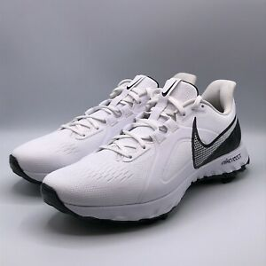 Nike Men's 12 React Infinity Pro Wide Golf Shoes Sneakers White Black CT6621-102
