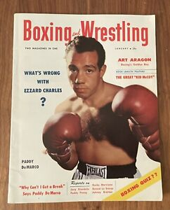Boxing And Wrestling Magazine (January, 1954) Paddy DeMarco