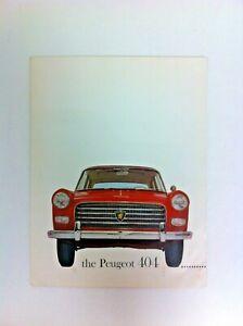 Peugeot 404 Brochure Great Condition Original  - #(F-32)
