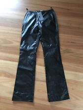 Ladies Cute Black PVC PU Leather look Pants By Caroline Morgan - Size 8 NWT