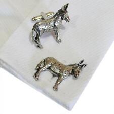 Donkeys High Quality Cufflinks Donkey Silver Pewter Handmade in England