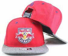 adidas New York Red Bull MLS Youth Flat Brim Snapback Cap Red Gray 0ae89cafe6f9