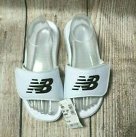 Women's NEW BALANCE White Slides ~ Size AU 7, Eur 37.5 ~ rrp $45 ~ shoes ~ MBC
