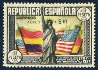 ✔️★ EDIFIL 765. 1938 - CONSTITUCION EE.UU. AEREO+5 Pts. CON DICTAMEN CMF (450€)★