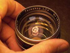 Zeiss Teleskop 1,7x lens & Cap for Contaflex l Camera, NICE Condition #1615519