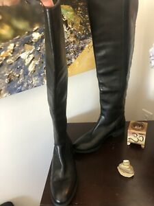 Arturo Chiang EUC! - EVERLY Over The Knee Boot - Back Zip Black Leather - 7.5M
