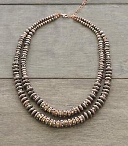 Copper Navajo Pearl Bead Necklace