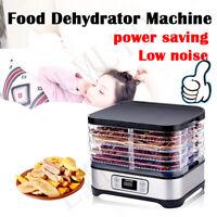 5-8 Trays Food Dehydrator Machine Jerky Dehydrators Low Noise Easy store & Clean