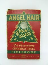 Vintage 40's Spun Glass ANGEL HAIR with Box, The George Franke Sons Co. USA