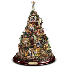 Thomas Kinkade Lighted Christmas Sculpture Nativity Mountain of Hope Holiday