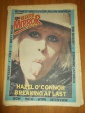 RECORD MIRROR AUGUST 9 1980 DAVID BOWIE TED NUGENT JERMAINE JACKSON KISS ODYSSEY