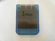 Carte Memoire Sony PlayStation 1 Bleue - 1 Mega - Générique - Occasion