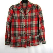 Vintage Women's Wool 49'er Plaid Shirt Jacket Coat 40's 50's Rockabilly