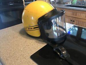 Vintage Ski Doo Snowmobile Safety Helmet Mode 40011 XL Skidoo with Brim & Shield