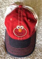 Vtg 90s ELMO Hat Snapback Trucker Sesame St Cream Cap Hip Hop Skater Punk Grunge