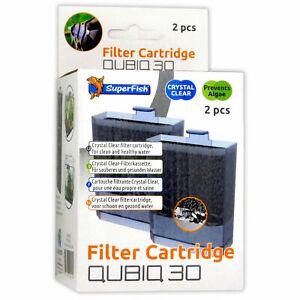 Superfish Qubiq 30 Cartridges 2pack Filter Media Crystal Clear WAter Aquarium