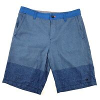 ONEILL Mens Size 32 Blue Hybrid Casual Surf Shorts