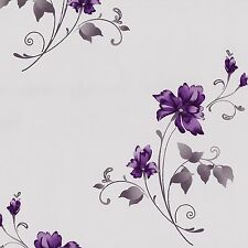 Tapete Blumen flieder lila Vliestapete P+S Pure+Easy 13285-40 (2,10€/1qm)