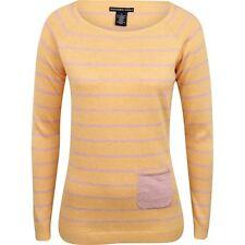 New Womens Oxford Brand Jennings Crew Neck Golf Sweater Size Small Orange Purple