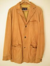 ARMANI JEANS 1981 Classic Vintage Real Leather Tan Jacket. Size UK 40
