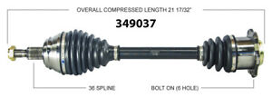 New CV Shaft 349037 Worldparts CV Axles