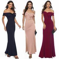 Women's Sexy Elegant prom dresses V neck slit Maxi Party dress evening dress new