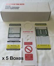 5 scatole (50 X PONTEGGI Tag) - Nuovo in Scatola-qualità Premium-valore fantastico
