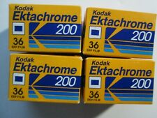KODAK Ektachrome 200 Color Slide Film Lot 4 Rolls NOS Expiration 1992 36 Exp